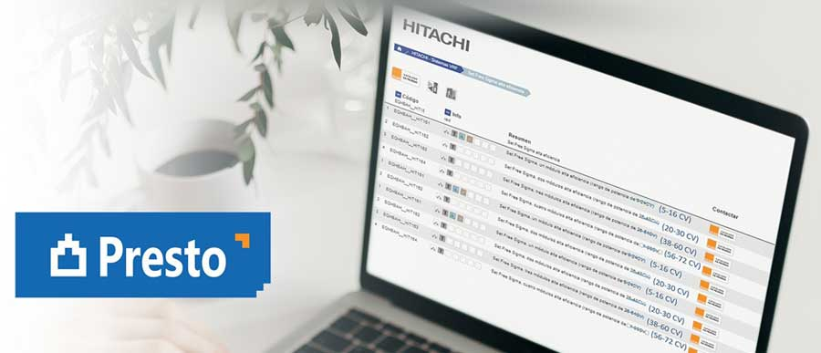 Nuevo catálogo de Hitachi Cooling & Heating, disponible en Presto.